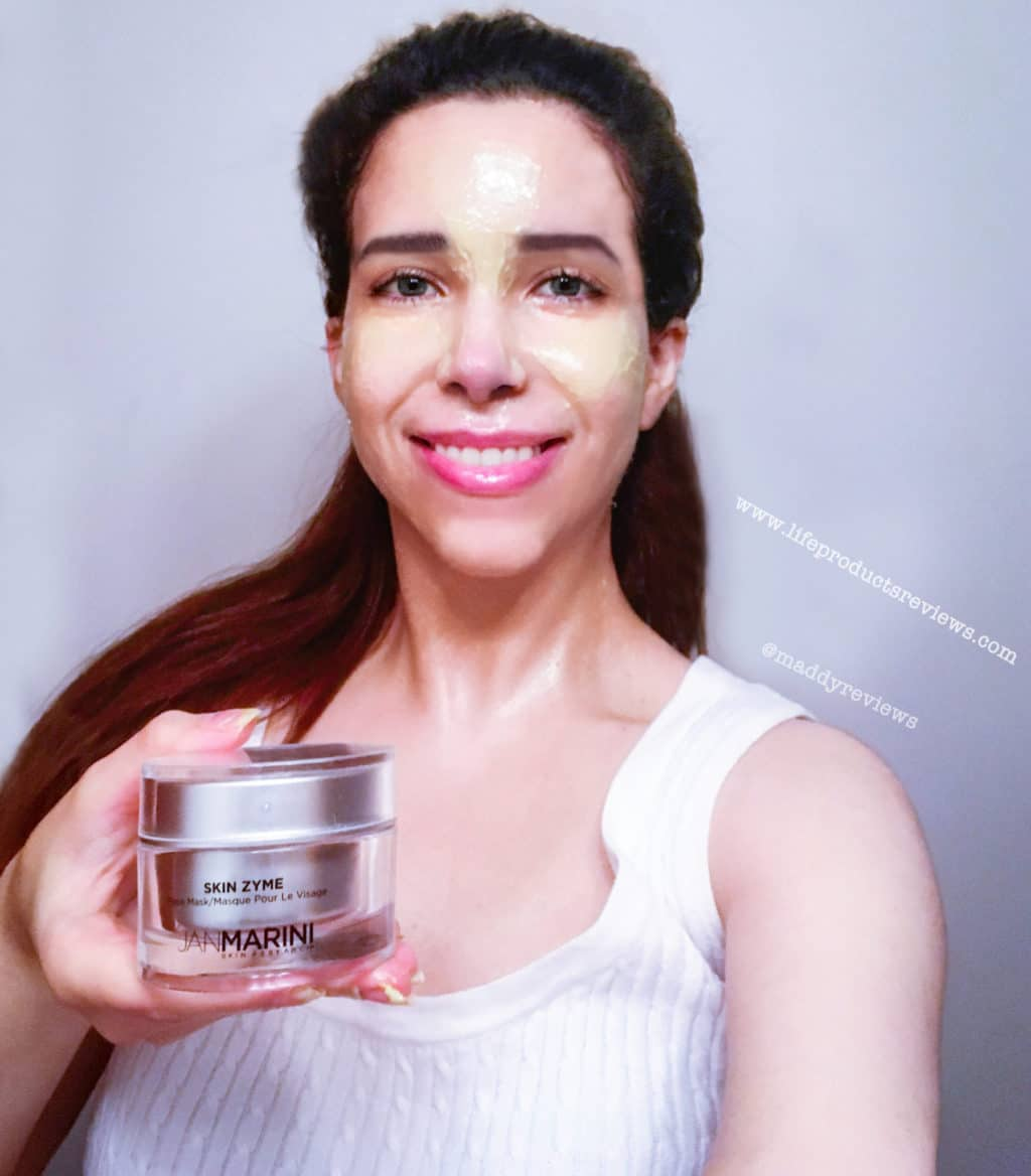 Jan marini Skin Zyme Before and after demo application facial