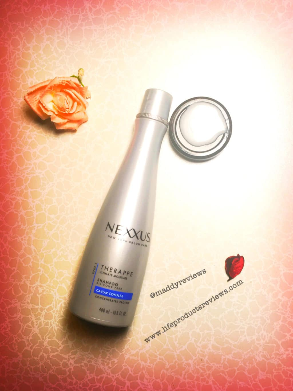 nexxus therappe shampoo display demo