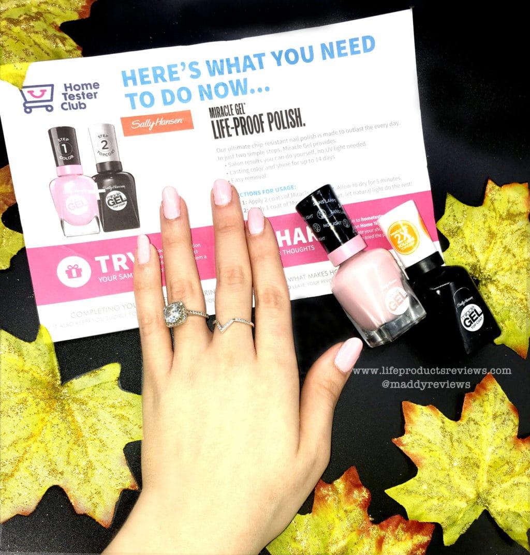 Sally Hansen nail polish miracle gel top coat website display