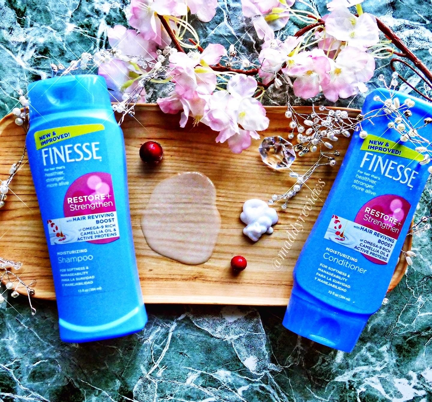 Finesse-Restore-Strengthen-hair-reviving-boost-omega-oil-active-proteins-moisturizing-shampoo-conditioner-best-review